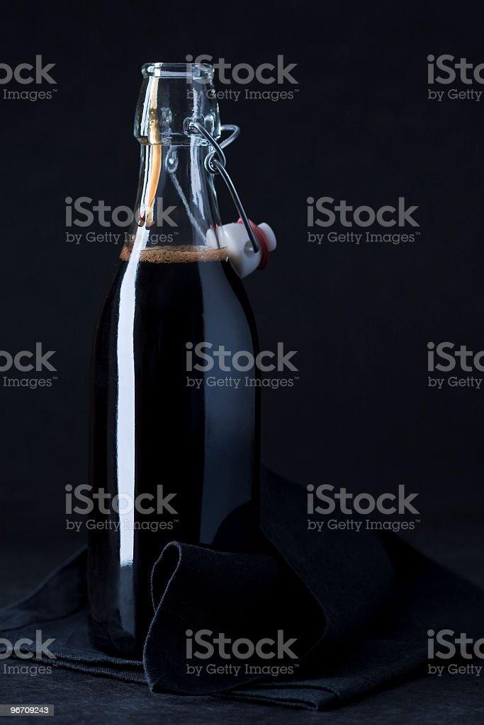 vinegar open bottle royalty-free stock photo