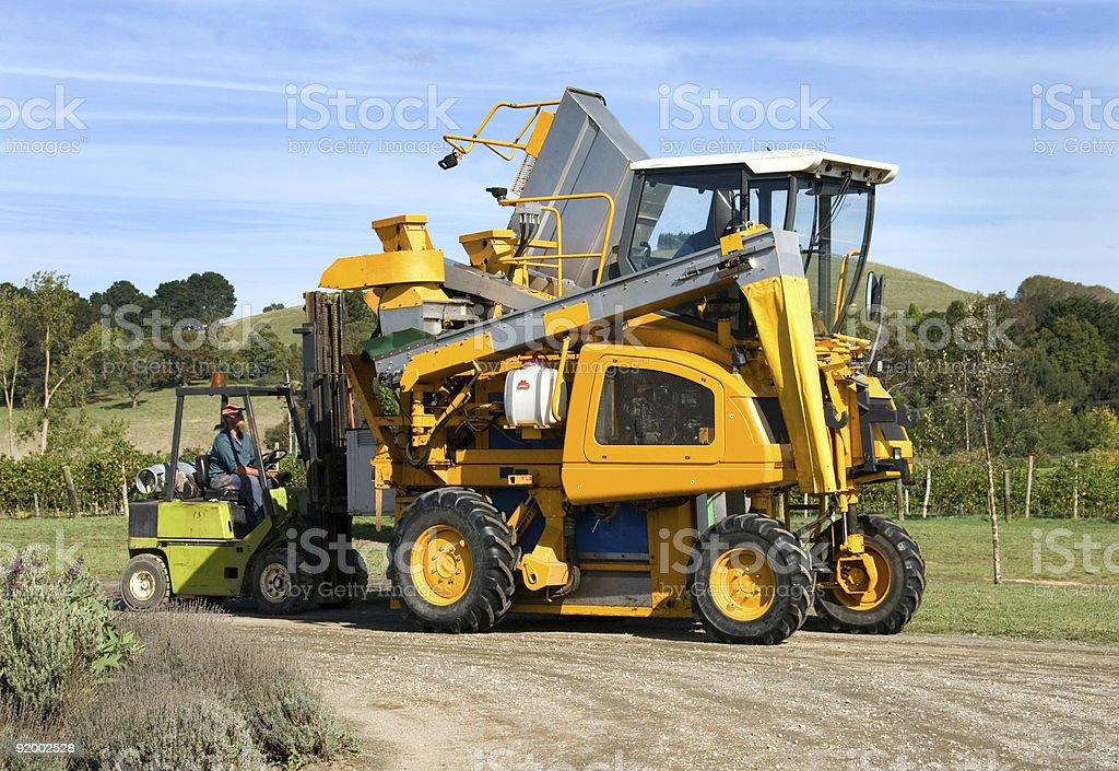 Vineyard Machinery royalty-free stock photo