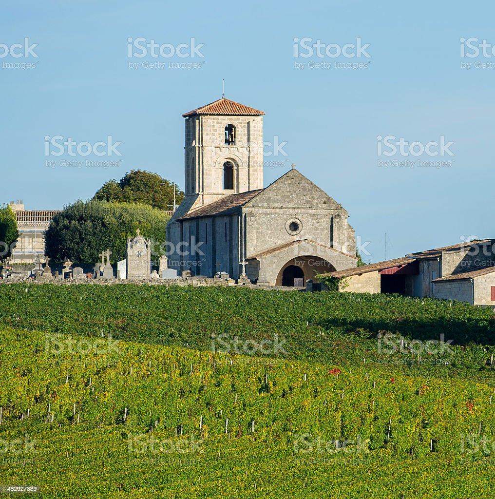 Vineyards Bordeaux Saint-Emilion-Montagne Saint-Emilion stock photo