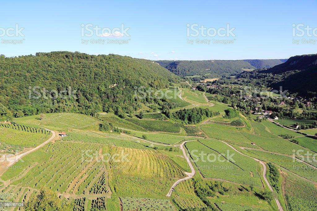 Vineyards of Jura stock photo