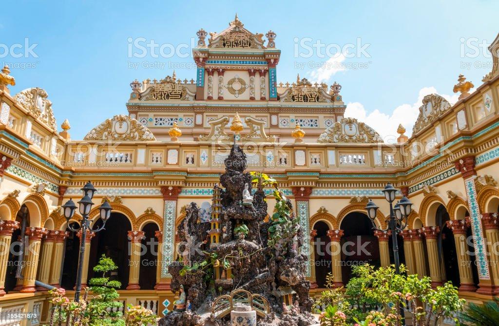 Vinh Trang Pagoda In My Tho, Vietnam stock photo