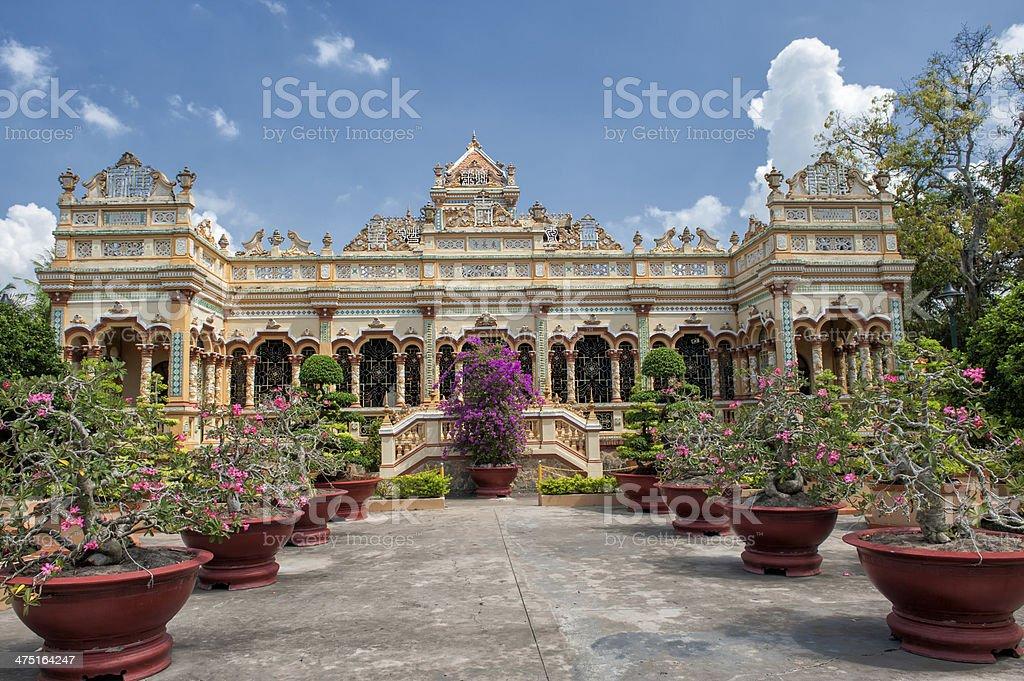 Vinh Trang Pagoda, Vietnam stock photo