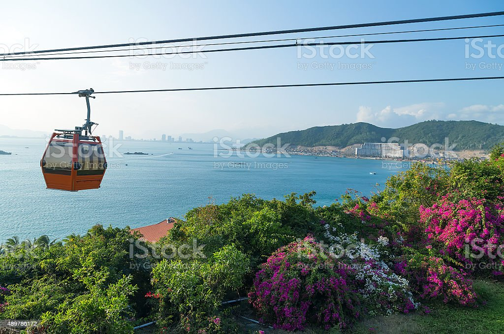 Vinpearl funicular cable car Nha Trang, Vietnam stock photo