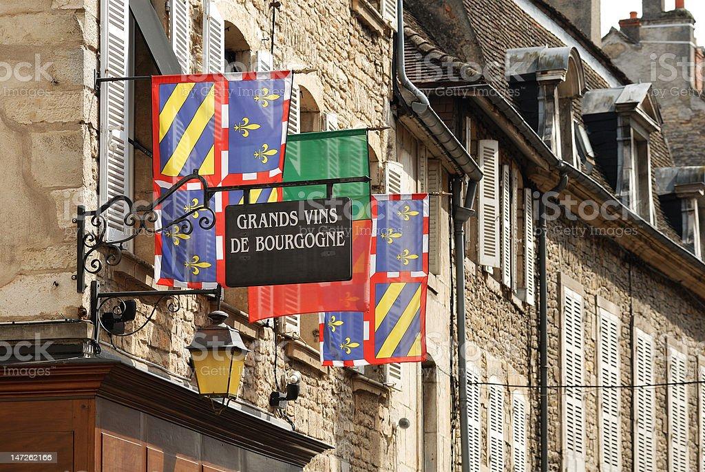 Vins de Bourgogne stock photo
