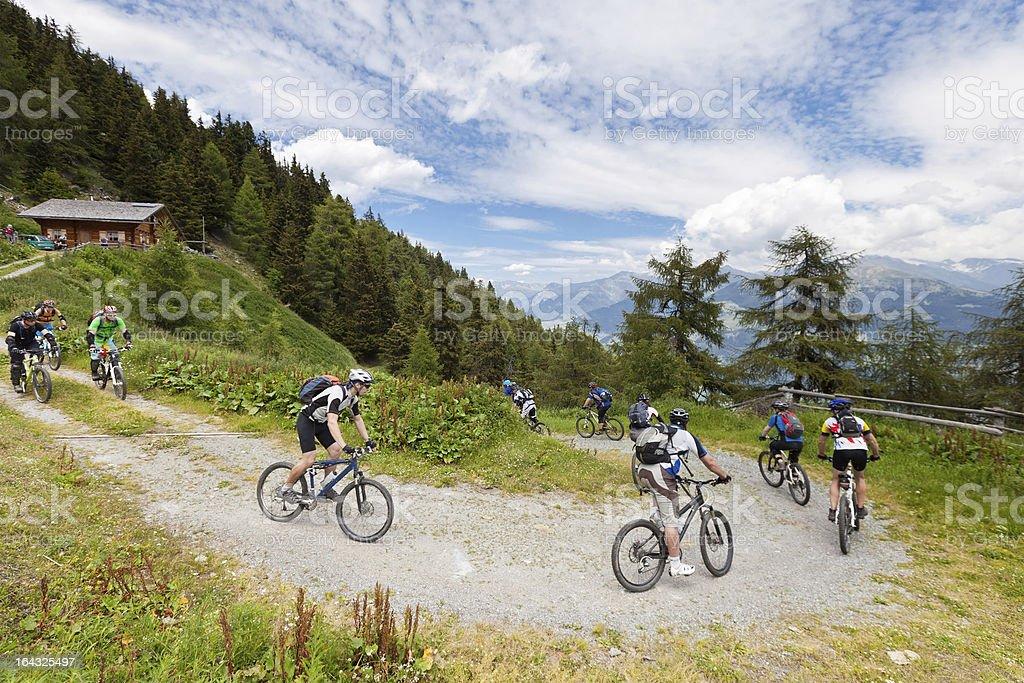 Vinschgau downward curve, South Tyrol royalty-free stock photo