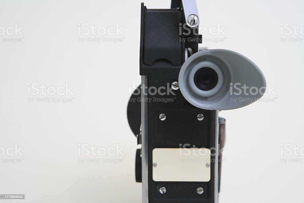 Vintage 16mm movie camera rear view stock photo