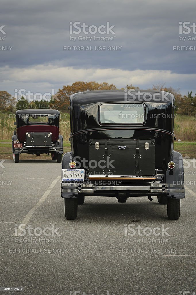 Vintage 1930 Ford Model T's stock photo