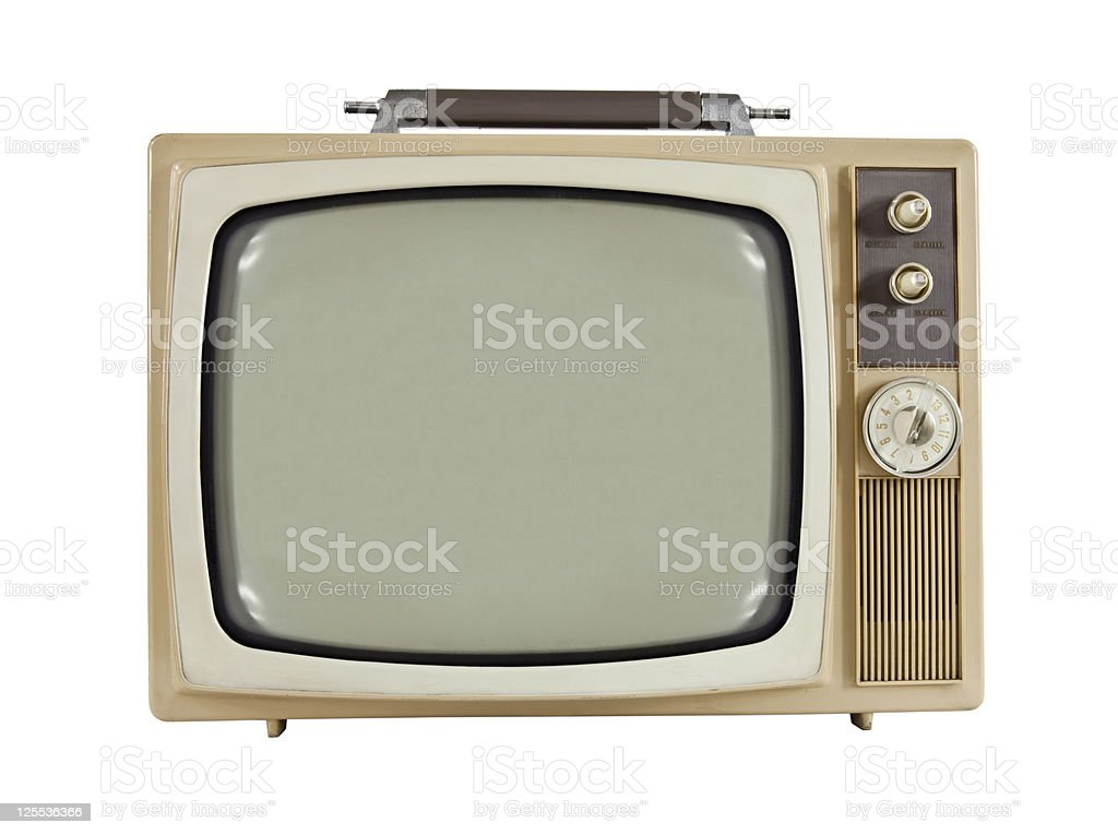 Vintage 1960's Portable Television royalty-free stock photo