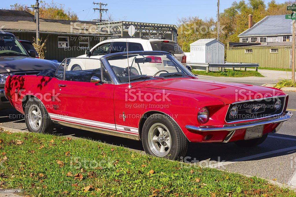 Vintage 1967 Ford Mustang stock photo