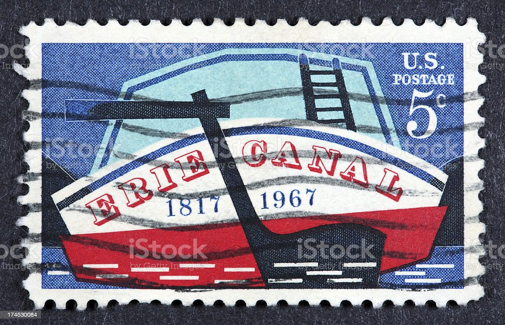 Vintage 1967 US stamp stock photo