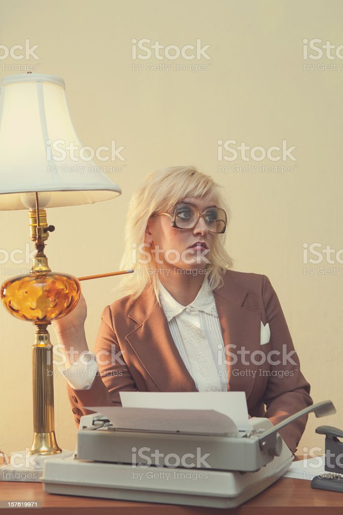 Vintage 1970's Secretary royalty-free stock photo
