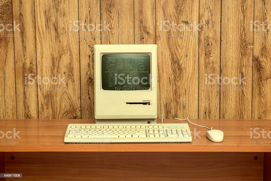 vintage 1980s GAME OVER computer stock photo