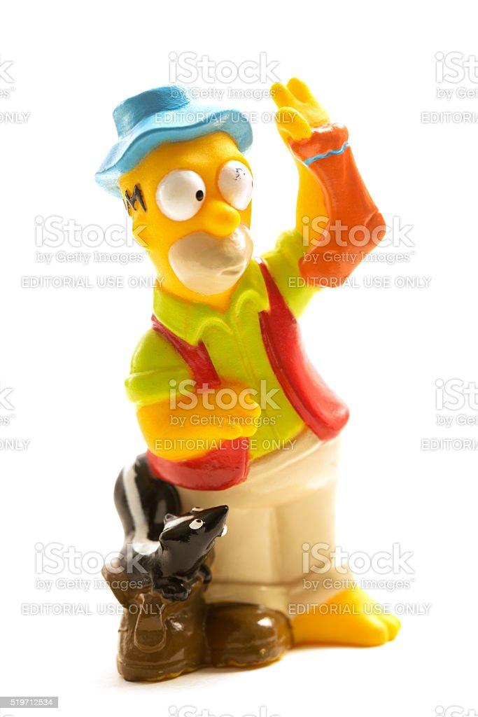 Vintage 1990 Homer Simpson Toy Figurine stock photo