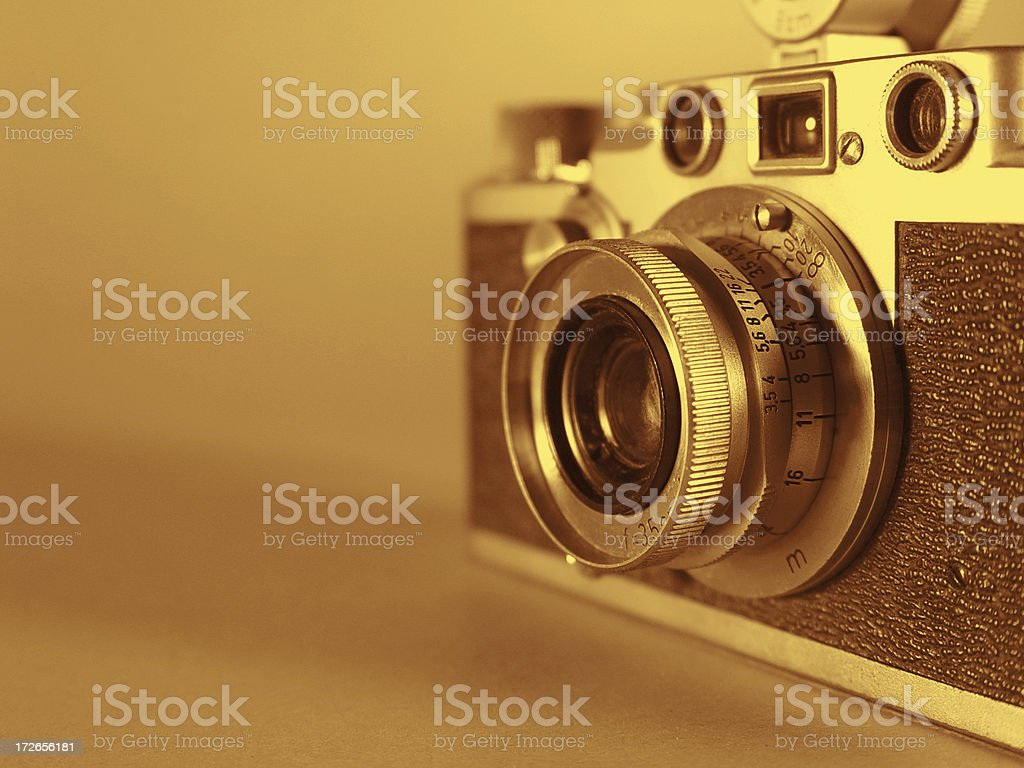 Vintage 35mm Camera royalty-free stock photo