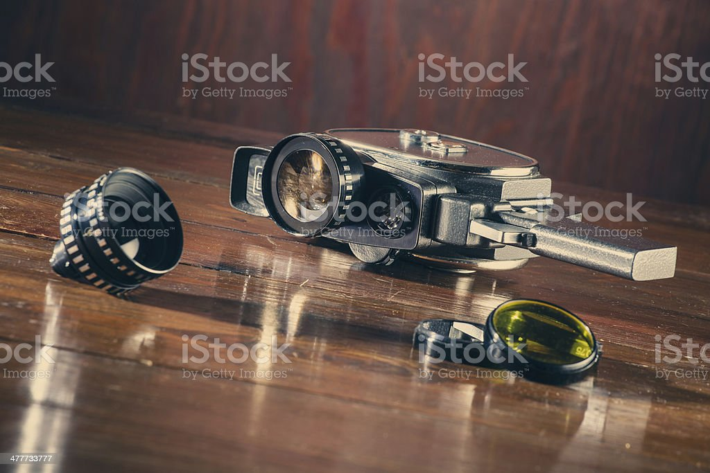 Vintage 8mm camera stock photo