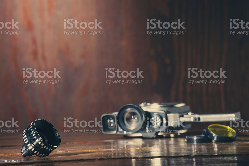 Vintage 8mm camera stock photo