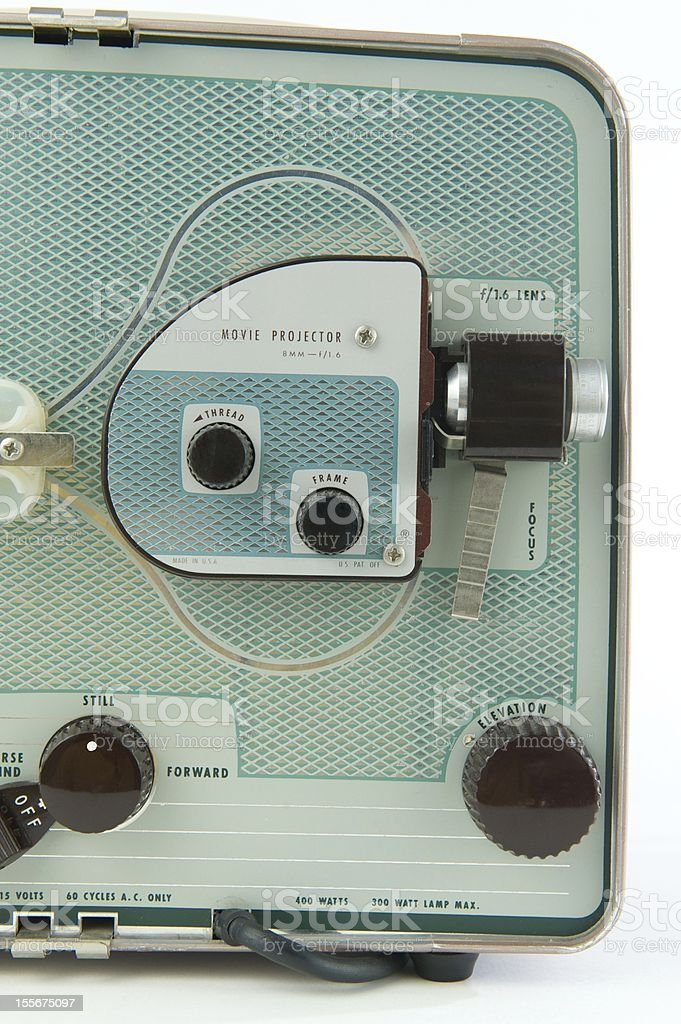 Vintage 8mm Home Movie Projector royalty-free stock photo