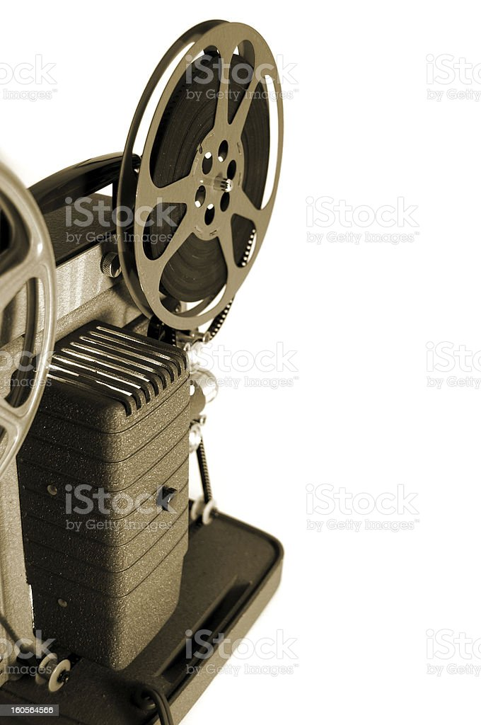 Vintage 8mm Movie Projector- Sepia stock photo