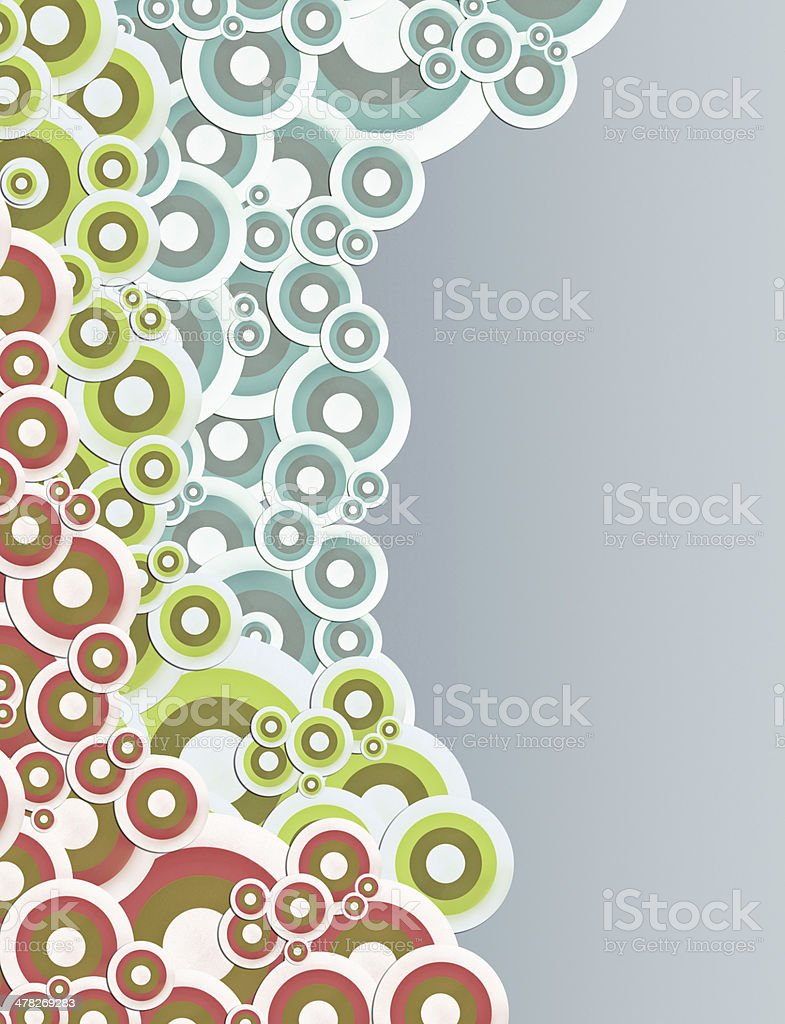 vintage abstract with colourful retro circle royalty-free stock photo