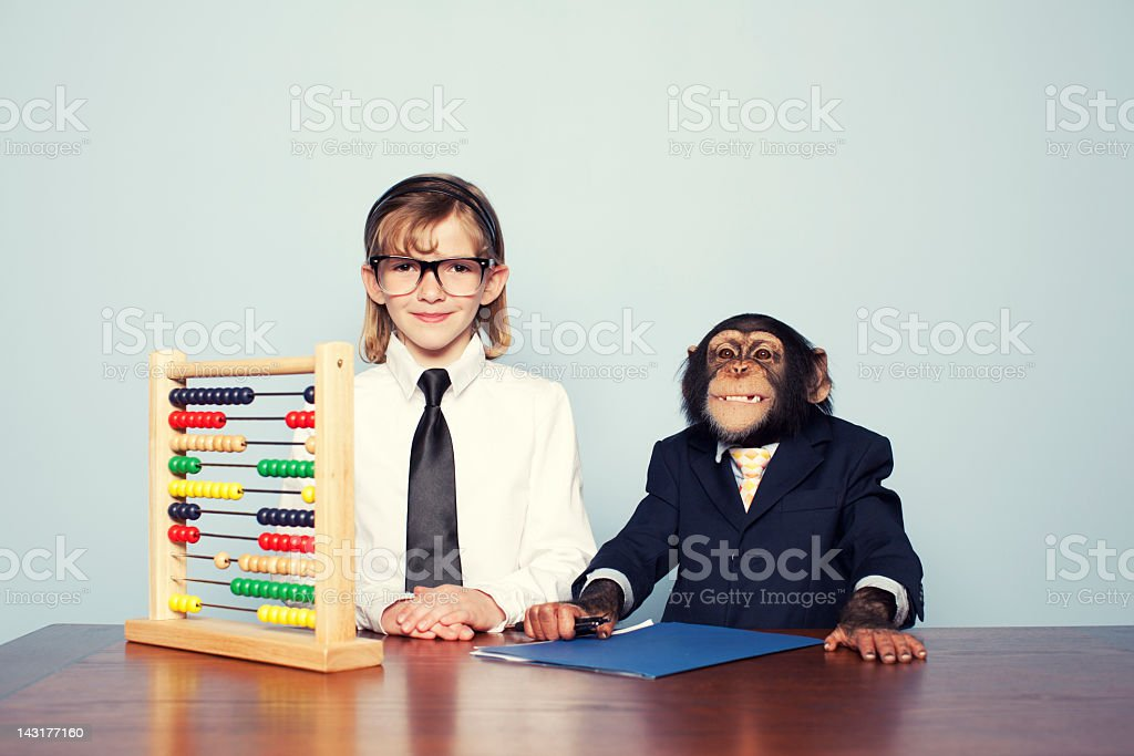 Vintage Accounting Team royalty-free stock photo
