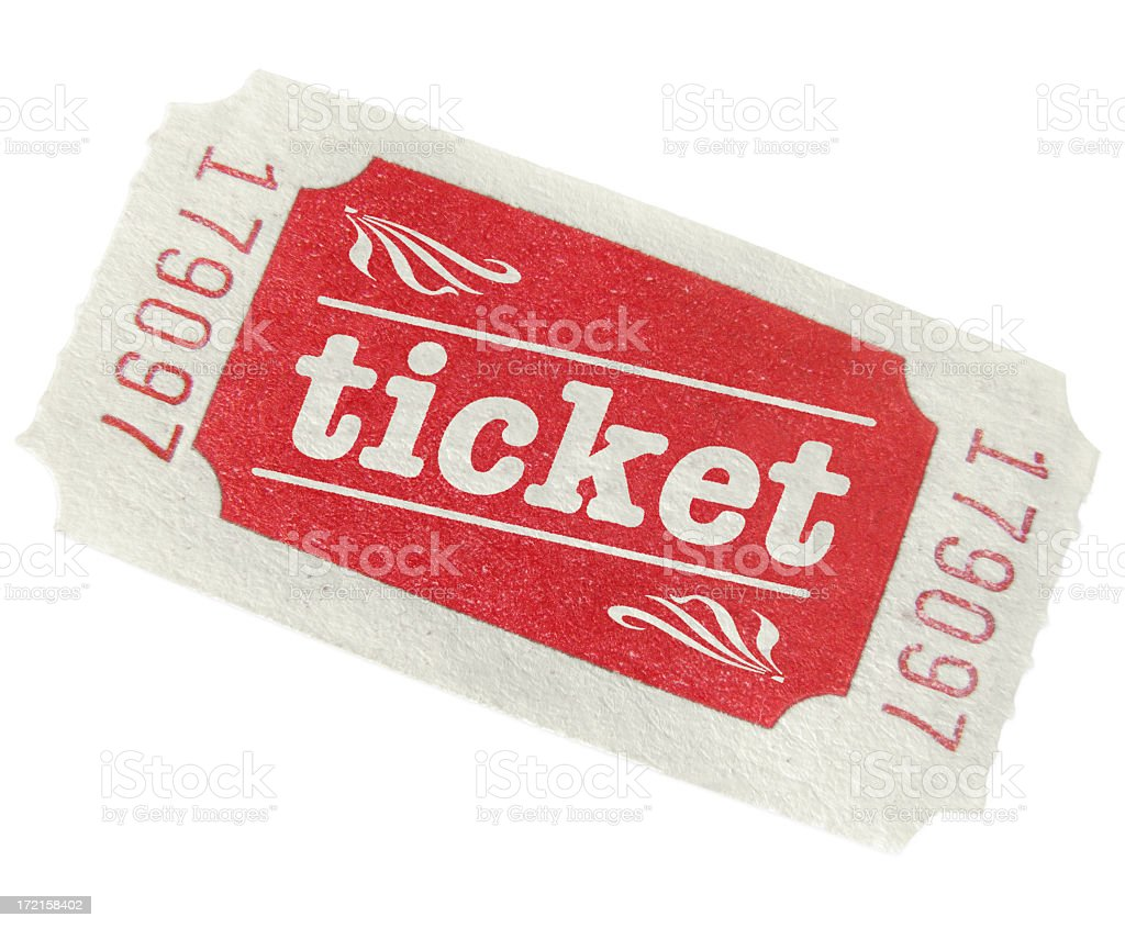 Vintage Admission Ticket stock photo