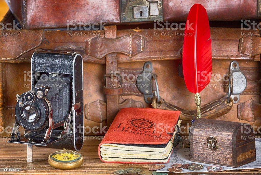 Vintage Adventures Equipment stock photo