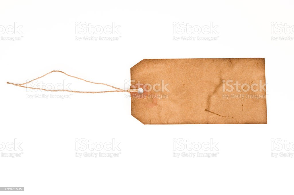 Vintage aged Tag royalty-free stock photo