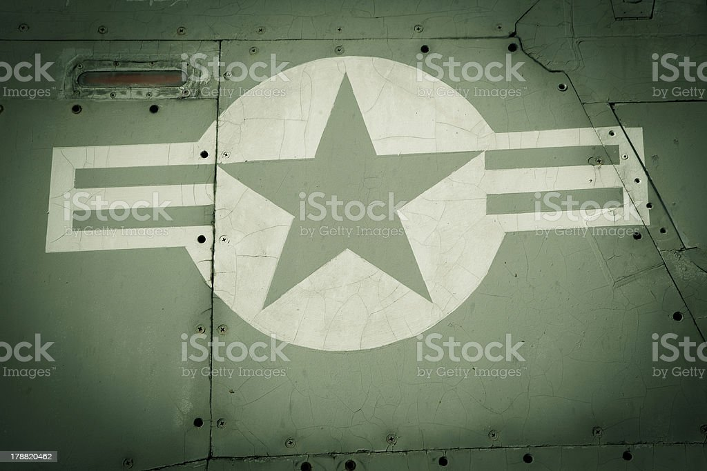 Vintage air force insignia royalty-free stock photo