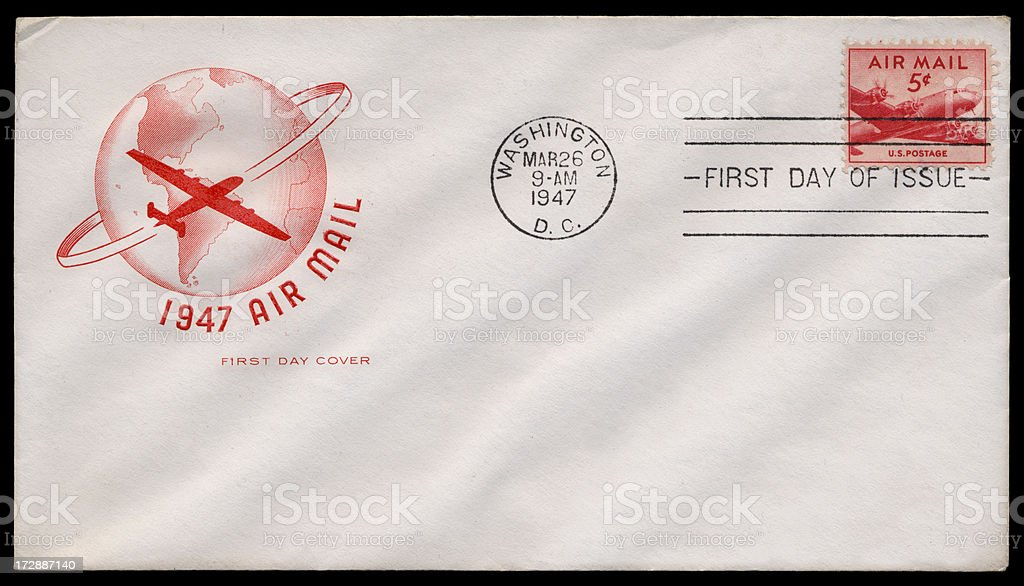 Vintage Air Mail Cover royalty-free stock photo