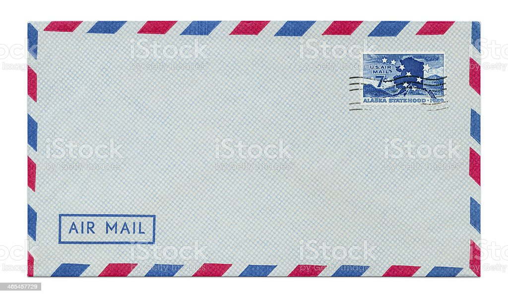 Vintage Air Mail royalty-free stock photo