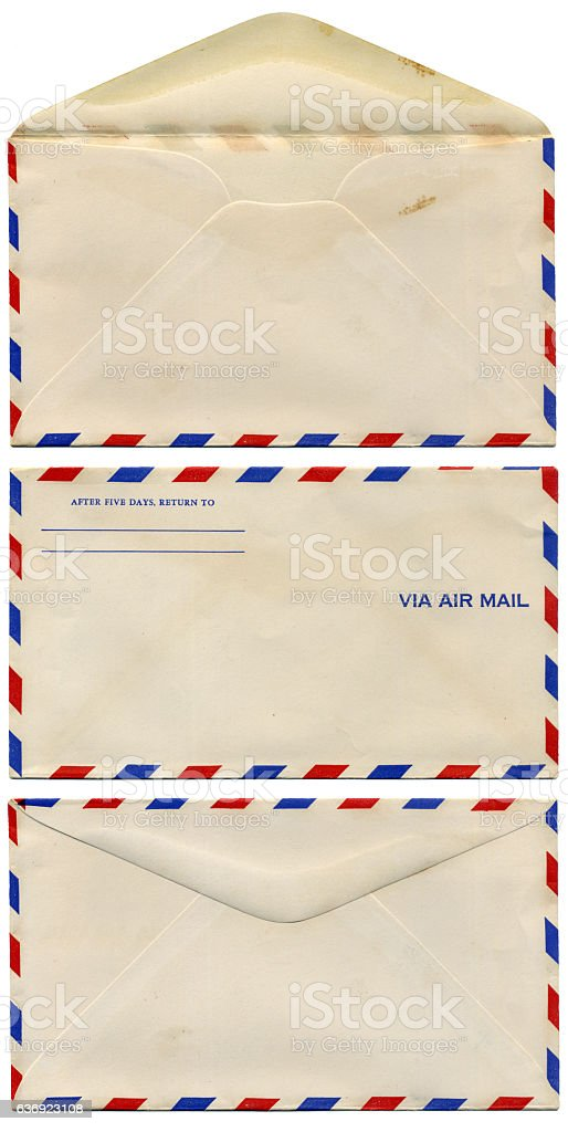 Vintage air mail stock photo