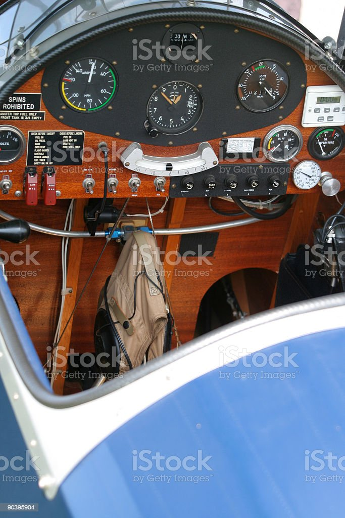 Vintage Aircraft Cockpit royalty-free stock photo