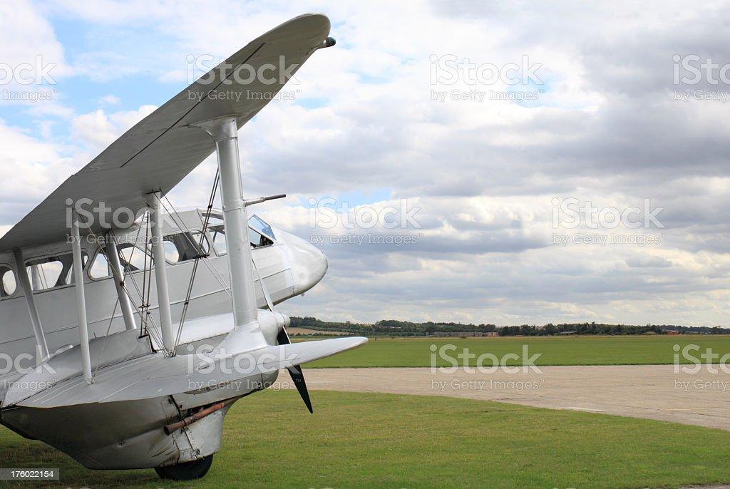 vintage aircraft De havilland Dragon Rapide stock photo