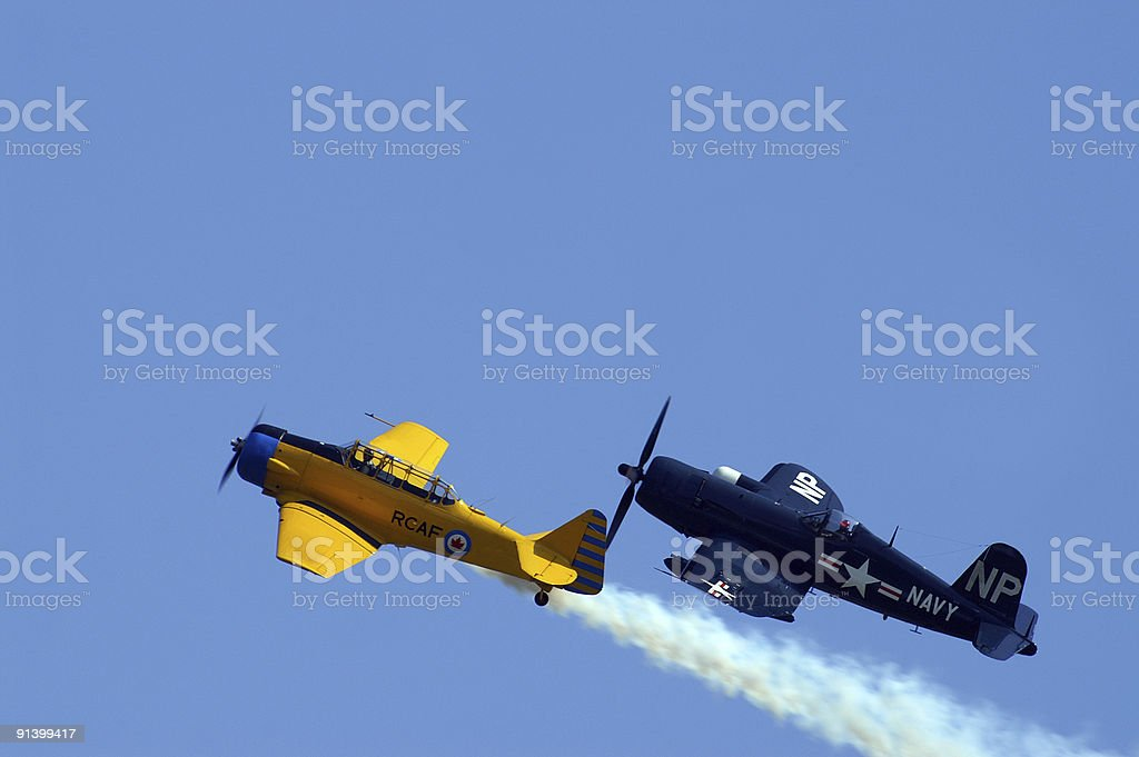 WW2 Vintage aircraft royalty-free stock photo