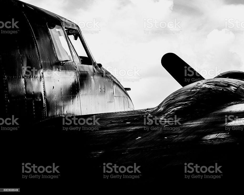 Vintage Aircraft Plane royalty-free stock photo