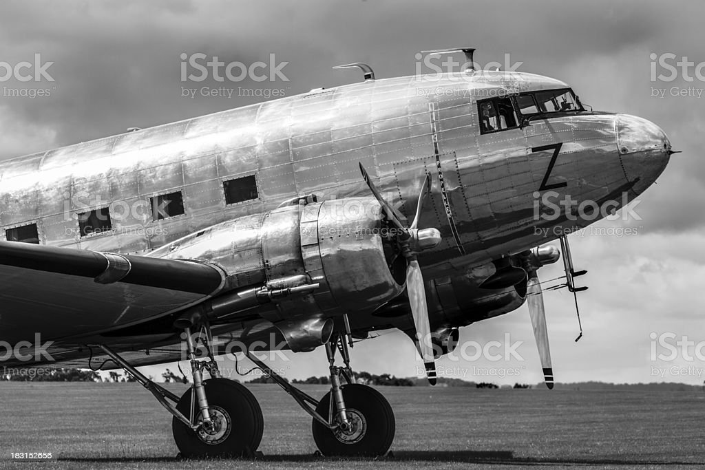 Vintage airliner stock photo