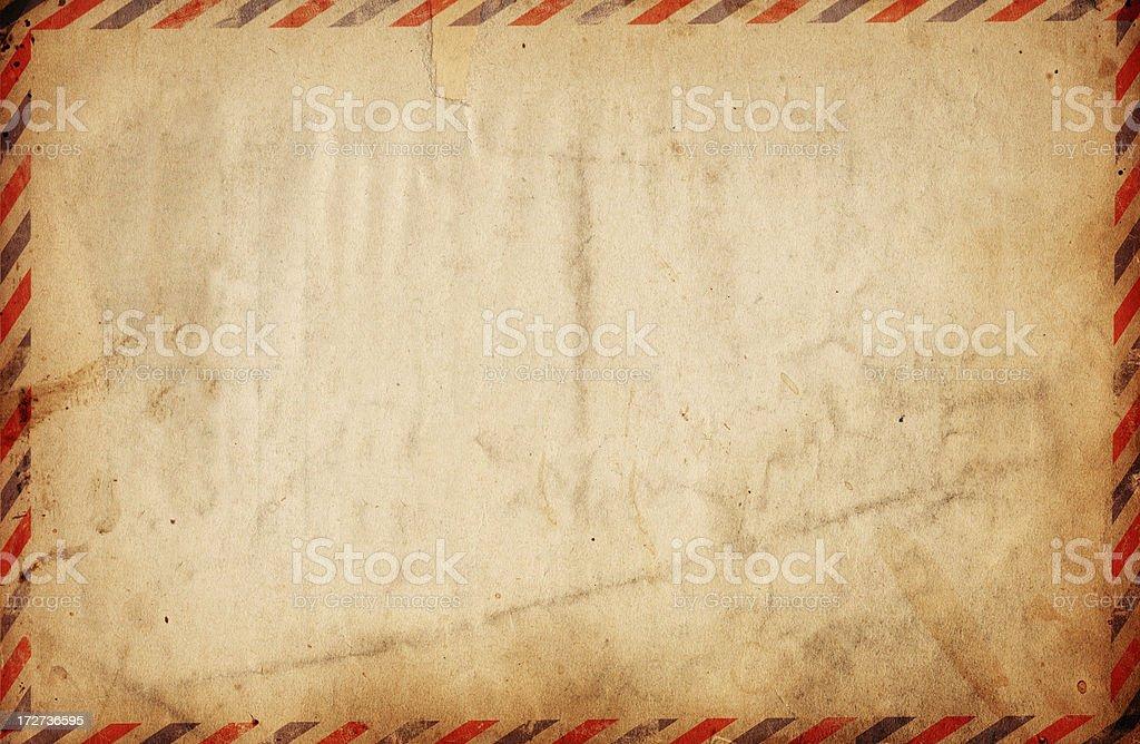 Vintage Airmail Paper XXXL royalty-free stock photo