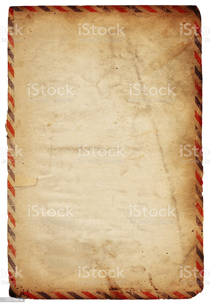 Vintage Airmail Paper XXXL stock photo