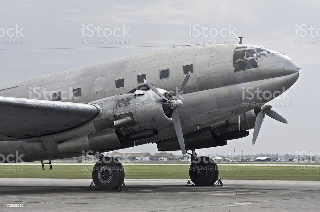 Vintage Airplane C-46 stock photo