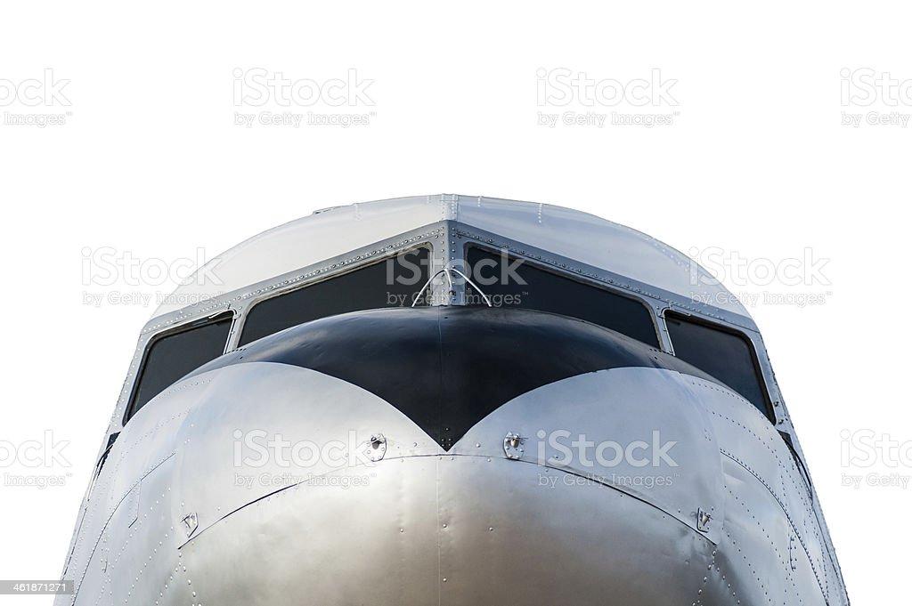 Vintage aeronave DC - 3 foto royalty-free