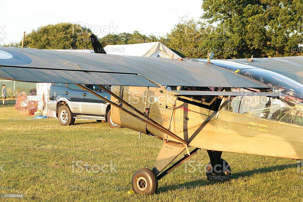 Vintage di aeroplanini nel Gloucestershire foto stock royalty-free