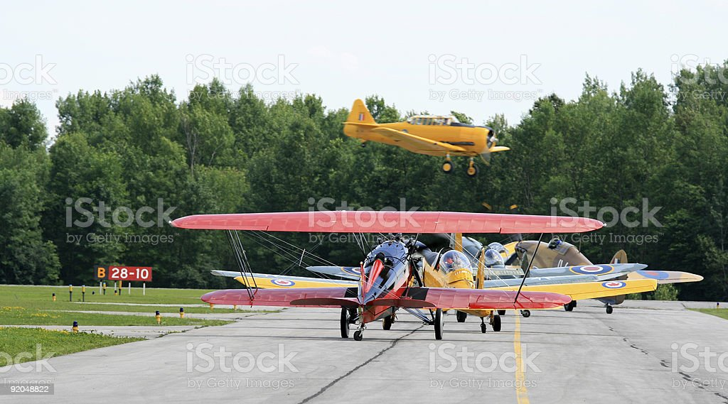 WWII Vintage Airplanes royalty-free stock photo