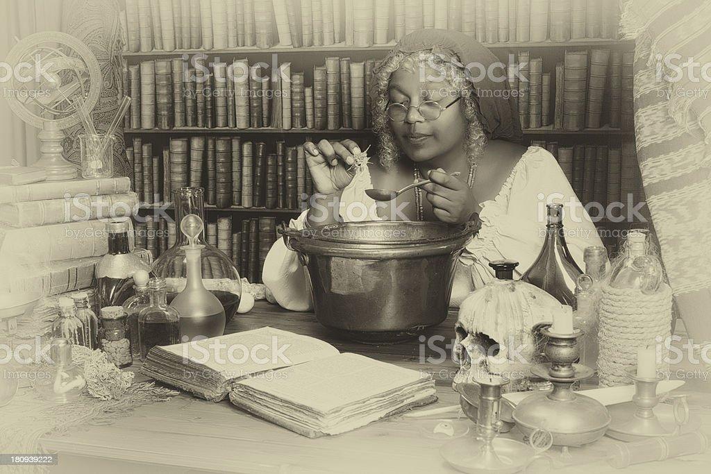 Vintage alchemist royalty-free stock photo