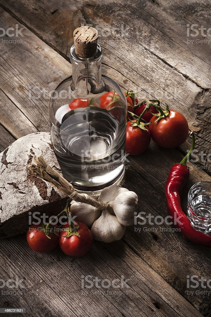 Vintage alcohol still life royalty-free stock photo