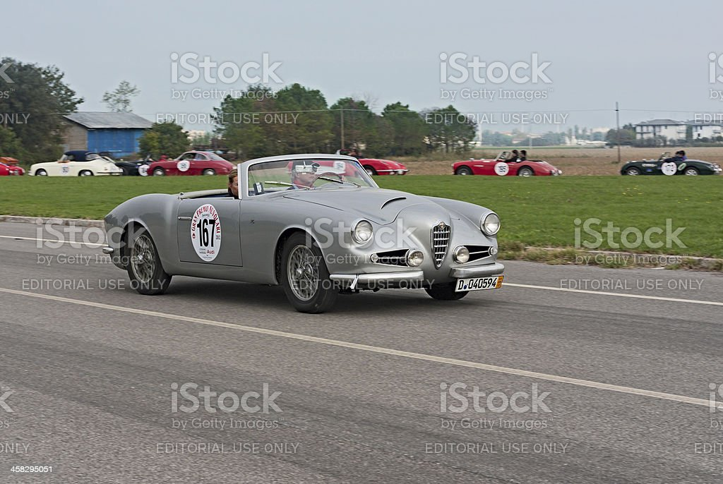 vintage Alfa Romeo stock photo