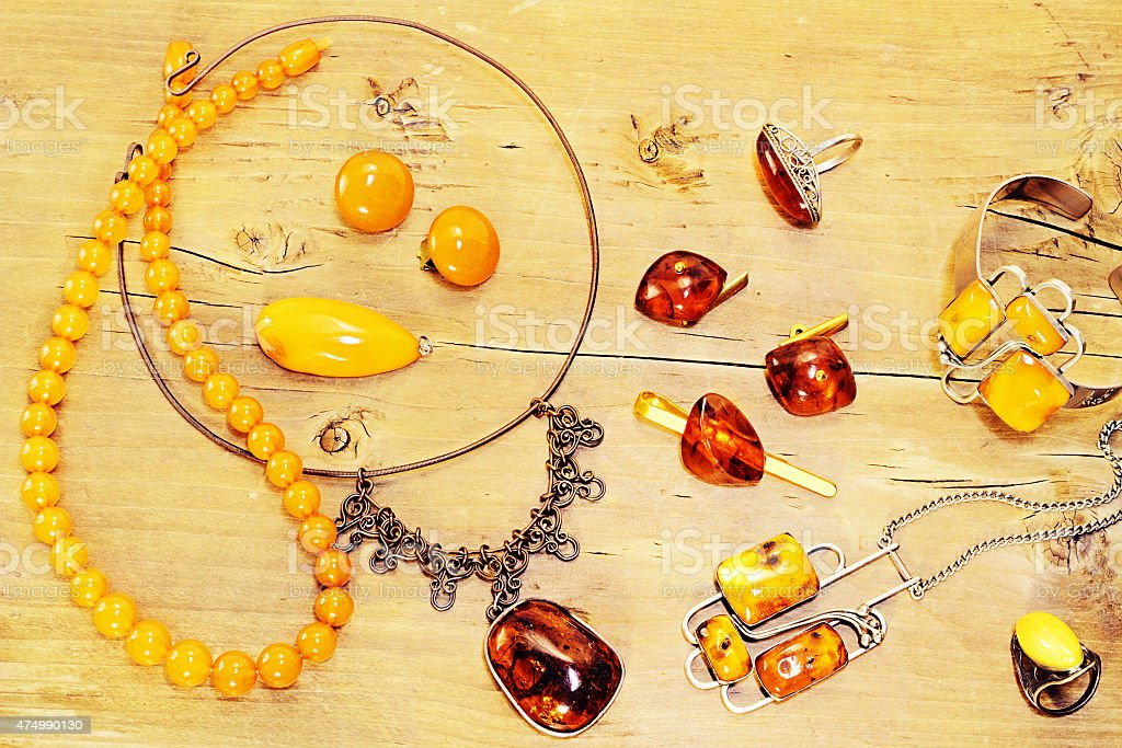 Vintage amber stock photo