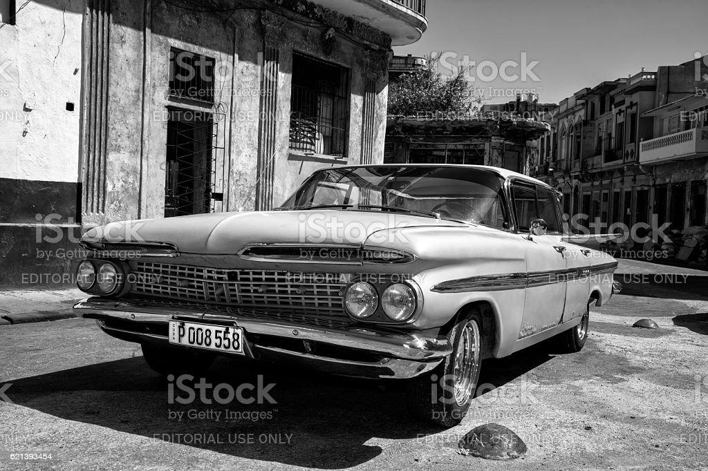 Vintage American Car 1959 Chevrolet Impala in Havana Cuba stock photo