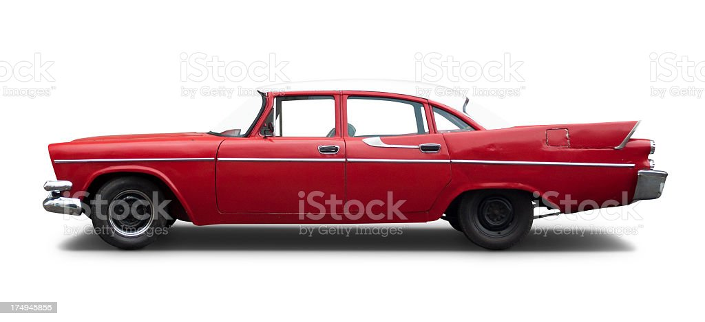 Vintage American Car 50's royalty-free stock photo