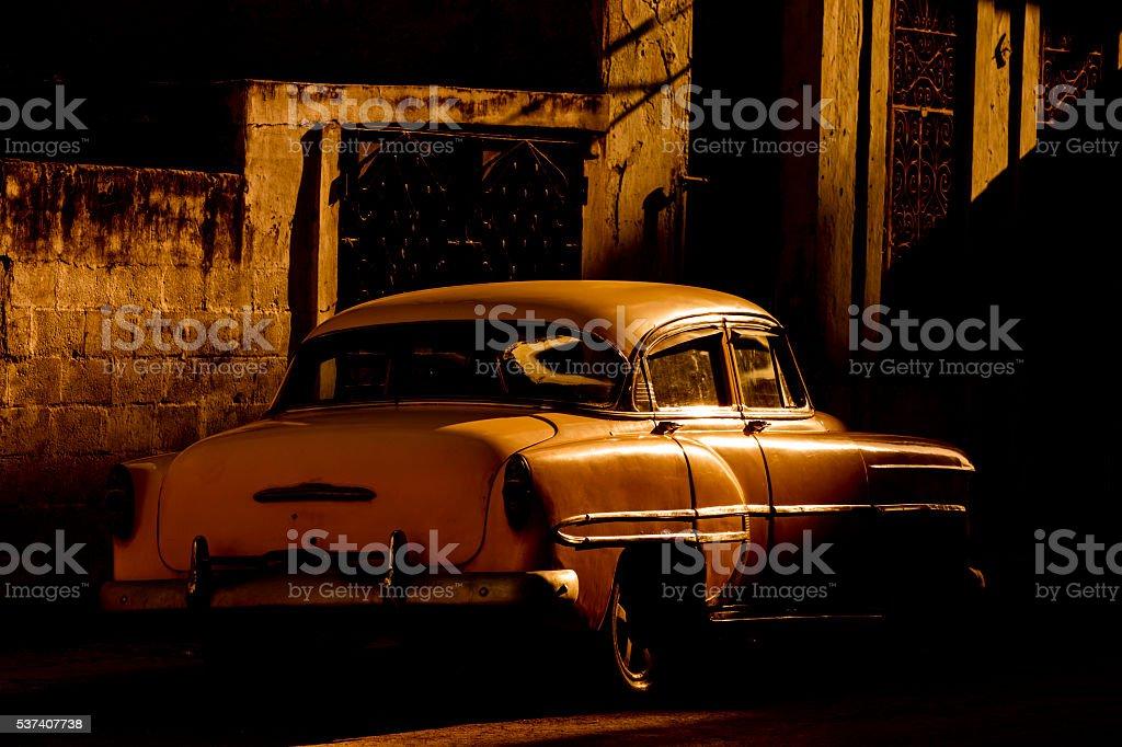 Vintage American Car, Havana, Cuba stock photo
