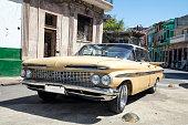 Vintage American Car in Havana Cuba